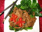 Gai Lan (Chinese Broccoli) and Beef