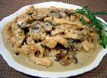 Creamy Tarragon Chicken with Mushrooms and Chevre