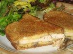 Chicken, Mushroom, and Gruyere Grilled Sandwiches