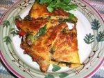 Veggie Quesadillas With Cilantro Sour Cream