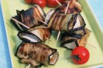 Aubergine and goat's cheese rolls