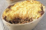 Cottage pie with a mixed vegetable topping