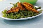 Chicken tikka and tomato salad