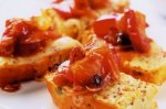 Caerphilly rarebit with warm plum relish