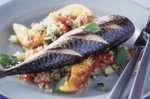 Citrus roasted mackerel with minted bulgur wheat