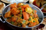 Carrot, paneer and pea curry