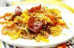 Chorizo and sweet pepper rice