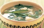 Callaloo (crab and spinach) soup