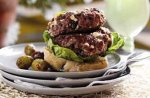 Welsh lamb and feta burgers