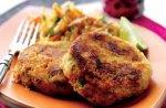 Salmon koftas with Indian coleslaw
