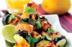 Chilli chicken & mango skewers