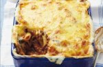 Mince and cheese pasta bake