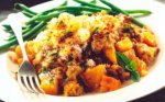 Lamb and lentil crumble