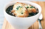 Red onion soup and cheese toasts