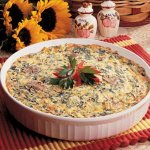 Crustless Spinach Quiche Recipe