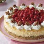 White Chocolate Cherry Pecan Cheesecake