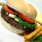 Grilled Gorgonzola-Basil Burgers