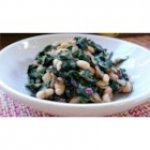 Greens with Cannellini Beans and Pancetta