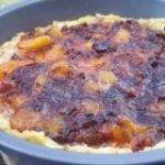 Sausage-Peach Puff Pancake