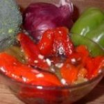 Roasted Bell Peppers with Simple Vinaigrette