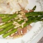 Asparagus with Prosciutto and Pine Nuts