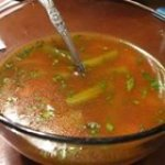 Veggie Soup with Basil Sauce
