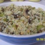 Hazelnut-Mushroom Pilaf