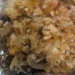 Mushroom Onion Matzo Kugel