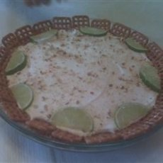 Key Lime and Pretzel Pie