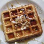 Crispy Walnut Maple Waffles