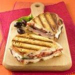 Simple Ham Panini Sandwiches