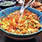 Carrot Pepperoni Caesar Salad