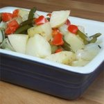 Barbequed Potato and Garlic Scape Packets
