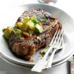 Chili-Rubbed Bone-In Strip Steaks