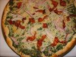 Spinach Alfredo Pizza - Vegan