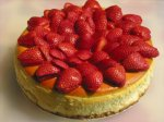 Strawberry Amaretto Cheesecake