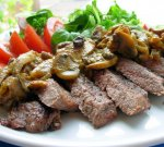 Grilled Safari Steak With Mango Chutney and Mushrooms