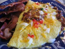 Dad's Chili Cheese Omelet