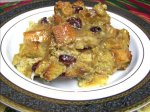 Mango Coconut Bread Pudding With Rum Sauce
