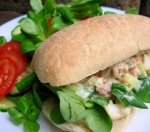 "Good News–bad News Tuna Salad ""salad"" Sandwich"