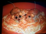 Halloween Rats Baked in Blood
