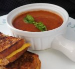 Quick Roasted Tomato Basil Soup
