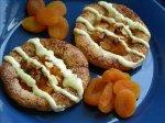 White Chocolate Glazed Apricot Tarts