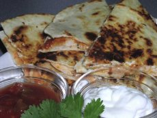 Speedy Salsa-Chicken Quesadillas