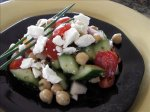 Garbanzo Bean Salad With Feta Cheese