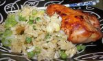 Barbecue Chicken With Fried Rice