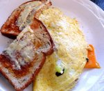 Turkey Sausage and Cheese Omelet