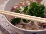 Vietnamese beef and rice noodle soup (pho)