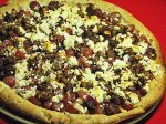 Sausage, Grape, and Goat Cheese Pizza