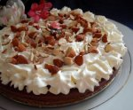 Chocolate & Hazelnut Muhallabieh - Middle Eastern Cream Tart